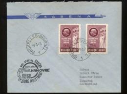 Sabena Vol Spécial 28 Février 1953  ---> Hannover - Storia Postale