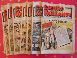 Coeurs Vaillants. Année 1941 Complète. 52 N° Pendant La Guerre. 6 Pages. Breysse (la Cité Perdue). Irradium X-40 - Magazines