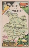 Pub Chicorée A LA BELLE JARDINIERE  Carte GEO  6.5x10.5  ILLE & VILAINE  (35) - Géographie