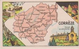 Pub Chicorée A LA BELLE JARDINIERE  Carte GEO  6.5x10.5  CORREZE  (19) - Géographie