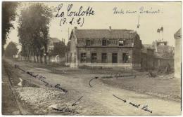 Carte Photo - La Coulotte Avion Pas De Calais Maison Détruite A Un Carrefour 1916 - Avion