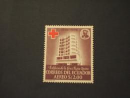 ECUADOR - P.A. 1960 CROCE ROSSA  - NUOVO(++) - Ecuador