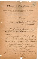 Lettre L'avenir De Diégo Suarez Rue De La Réunion Madagascar Directeur A Hugnin  Signée 3 Janvier 1895 - Factures & Documents Commerciaux