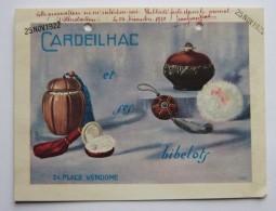 """1922,CARTONPUBLICITAIRE """"CARDEILHAC"""",24 PLACE VENDOME, PARIS,BIBELOT - Publicités"""