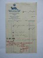 """1932,FACTURE  """"A LA ZIBELINE ROYALE"""",PARIS,AVENUE DE WAGRAM,MODELES,TRANSFORMATIONS,CONSERVATIONS DE FOURRURES - France"""