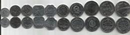 Bangladesh Complete Set Of 10 Coins UNC - Bangladesh
