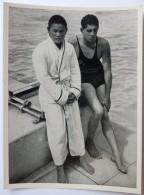 VIGNETTE JEUX OLYMPIQUES J.O BERLIN OLYMPIA 1936 PET CREMER DUSSELDORF BILD 83 NATATION SCHWIMMEN - Trading Cards