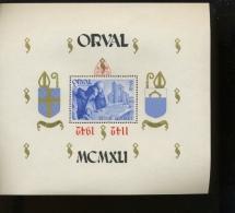 Orval  Surcharge Renversée  Bloc 22 **   Curiosité  LUXE - Blocks & Kleinbögen 1924-1960