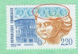 Varieté NEUF ** 2534 **  Vert -jaune Base Médaillons  Variétés Sculptures - Errors & Oddities