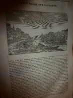 1833 LM :L'ile BARBE Sur La Saône;Le Milan; SUMATRA; Hôtel Des Finances De DRESDE;Pompe à FEU De Chaillot;Capo-d'Istria - Vieux Papiers