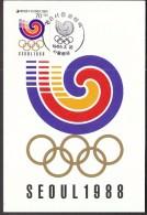 Korea Seoul 1985, Olympic Games Seoul 1988 / The Emblem Of Seoul Olympics - Sommer 1988: Seoul
