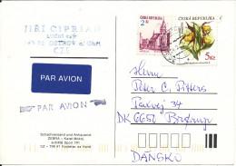 Czech Republic Chess Card Sent To Denmark 1999 Topic Stamps - Czech Republic