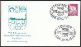 Germany Munich 1981, 8th International Railwaymans Wrestling Championship - Lutte