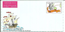 AEROGRAMA CUBA 1982 - Cristóbal Colón