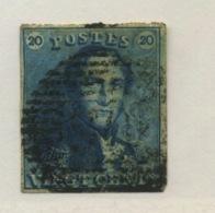 N° 2   20c épaulette  4 Marges - 1849 Schulterklappen