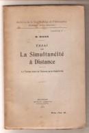 W.RIVIER - Essai Sur La Simultanéité à Distance - Bruxelles Lamertin, 1932 - Sciences