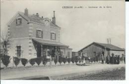 77 - CESSON - T.Belle Vue Animée  De L'intérieur De La Gare - Cesson