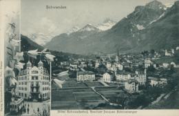 CH SCHWANDEN / Hôtel Schwanderfof, Besitzer Jacques Schöneberger / - GL Glarus