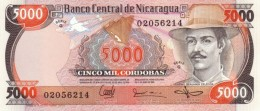 Nicaragua P146, 5,000 Cordoba, General Benjamin Zeledon / Nat'l Assembly Bldg - Nicaragua