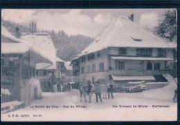 La Suisse En Hiver, Rue Du Village, Scène Alpestre (9257) - Elevage