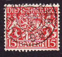 Bavaria, Scott #O11, Used, Coat Of Arms, Issued 1916 - Bavaria