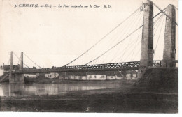 41  CHISSAY  Le Pont Suspendu Sur Le Cher - Autres Communes