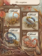 DJIBOUTI 2016 - Scorpions, Cockroach. Official Issue - Insecten