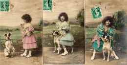 Enfant Et Chien, 2 - Fillette X 3 (ODLG 109) - Hunde
