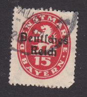 Bavaria, Scott #O54, Used, Official Overprinted, Issued 1920 - Bavaria