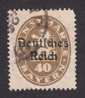 Bavaria, Scott #O57, Used, Official Overprinted, Issued 1920 - Bavaria