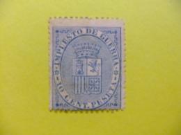 ESPAÑA SPAIN ESPAGNE 1874 ESCUDO De ESPAÑA - ARMOIRIE Edifil Nº 142 (*)  Ver Foto - Impuestos De Guerra