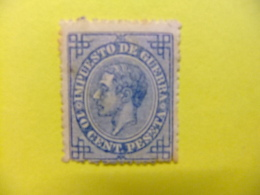 ESPAÑA SPAIN ESPAGNE 1876 ALFONSO XII Edifil Nº 184 (*)  Ver Foto - Impuestos De Guerra