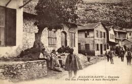 1918   ALLIANCE-SANTI - Quaranta - Une Rue Principale - Albania