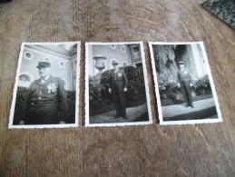 Trois Photographies Anciennes De 1957, Officier Hautement Décoré - War, Military