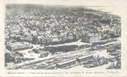 AÑO 1934 BUENOS AIRES VISTA AEREA CASA DE GOBIERNO AVENIDA LEANDRO NICEFORO ALEM VOYAGEE CPA RARE - Argentina
