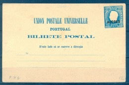 PORTUGAL - AZORES , ENTERO POSTAL DE D. LUIS I , 20 REIS SIN CIRCULAR - Postwaardestukken
