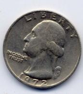 Quarter Dollars 1972 Usa - Amérique Centrale