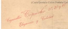 UMBERTO DI SAVOIA CPA CIRCA 1905 PLUS RARISIME PUBLICITE ARGENTINA CIGARRILLOS CAPRICHO AU DOS EN ROUGE DOS DIVISE TBE - Koninklijke Families