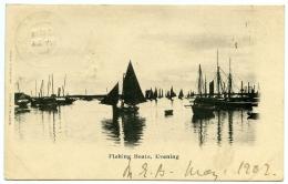 SCOTTISH STUDIES : FISHING BOATS, EVENING / POSTMARKS - RAMSGATE & FORT WILLIAM 1902 - Fishing