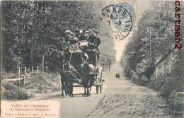 DE CHEVREUSE A DAMPIERRE DILIGENCE ATTELAGE 78 YVELINES 1900 - Dampierre En Yvelines