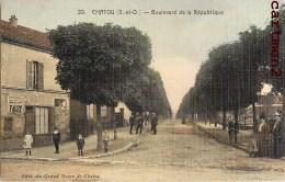 CHATOU BOULEVARD DE LA REPUBLIQUE 78 YVELINES CARTE TOILEE - Chatou