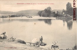BONNIERES-SUR-SEINE LAVEUSES AU BORD DE LASEINE LAVANDIERE LESSIVEUSE 78 YVELINES - Bonnieres Sur Seine