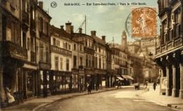 55 BAR-LE-DUC Rue Entre Deux Ponts Vers La Ville Haute Animée Couleur - Bar Le Duc