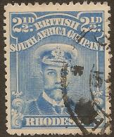 RHODESIA 1913 2 1/2d Bright Blue SG 208 U #TC14 - Non Classificati