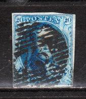 7  Médaillon Non Dentelé - Belles Marges - Oblit. P73 LIEGE - LOOK - X096!!!! - 1851-1857 Medallions (6/8)