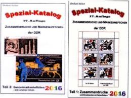 GDR/DDR Katalog #1 Zusammendrucke Plus #3 Sonder-Markenhefte 2016 50€ RICHTER Se-tenant+carnet Special Catalogue Germany - Materiales