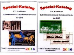 GDR/DDR Kataloge #2 Standard-Markenhefte Plus #3 Variable SMH New 50€ RICHTER Booklets+carnets Special Catalogue Germany - Materiali