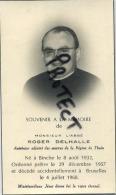 Binche :  Roger Delhalle : Aumonier Adjoint Des Oeuvres De La Region De Thuin   ( 2 Scan ) - Binche