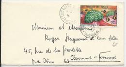 COTES DES SOMALIS - 1963 - ENVELOPPE De DJIBOUTI  Pour CLERMONT-FERRAND - Côte Française Des Somalis (1894-1967)