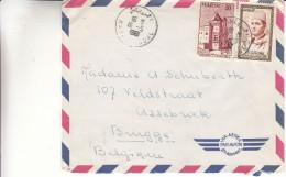 Maroc - Lettre De 1961 - Oblitération Rabat Agdal - Expédié Vers La Belgique - Valeur 6 Euros - Marokko (1956-...)